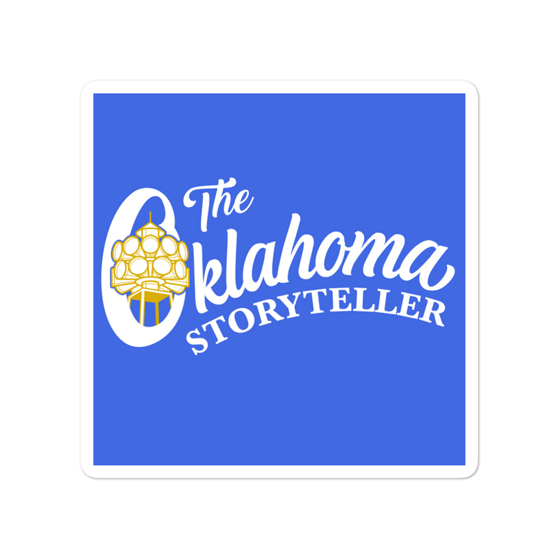 The Oklahoma Storyteller Bubble-free stickers