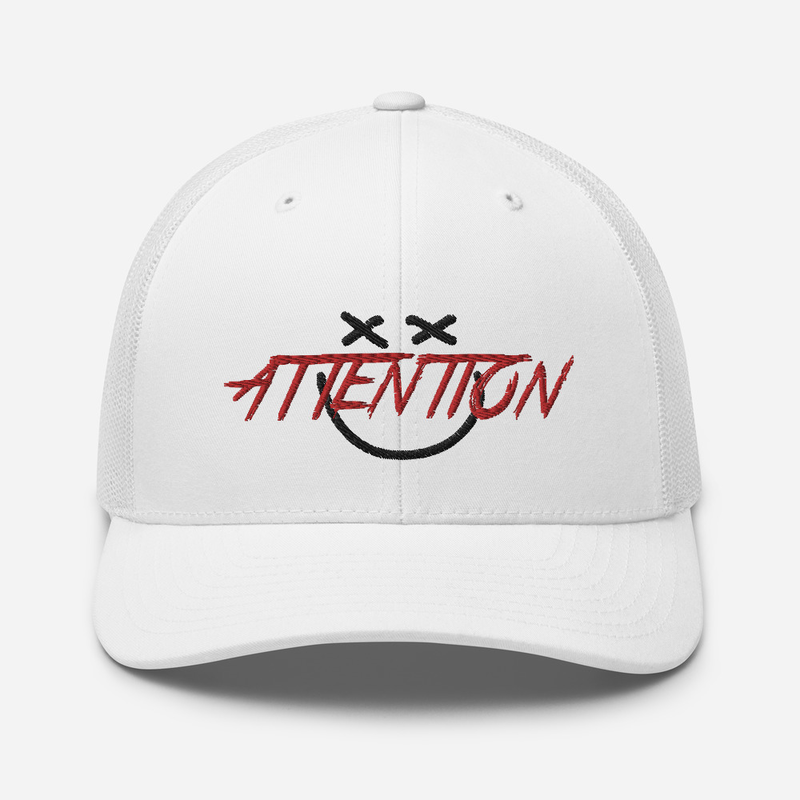 ATTENTION SMILY FACE Trucker Cap