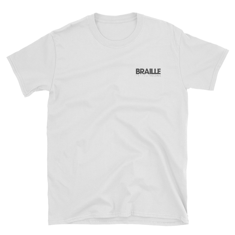 Braille Records Embroidered Short-Sleeve Unisex T-Shirt