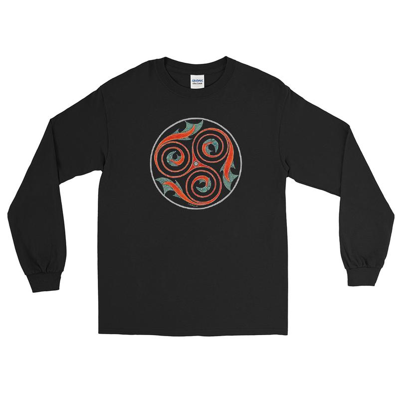 Salmon Men's Long Sleeve Shirt