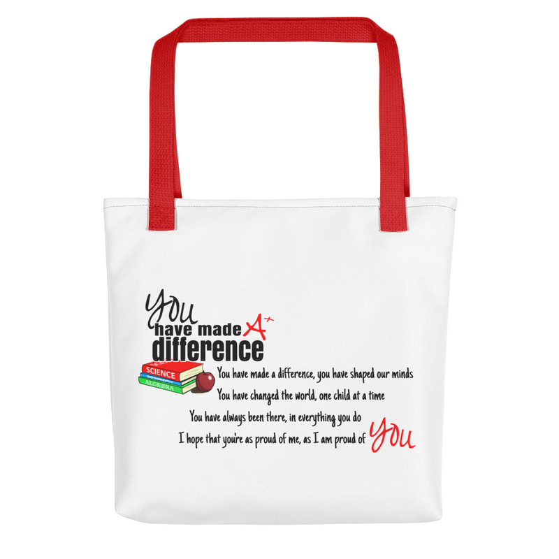 You Have Made A Difference Tote bag