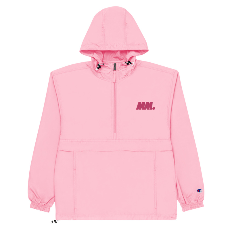 Mighty Morfin Pale Pastel Embroidered Champion Packable Jacket Unisex