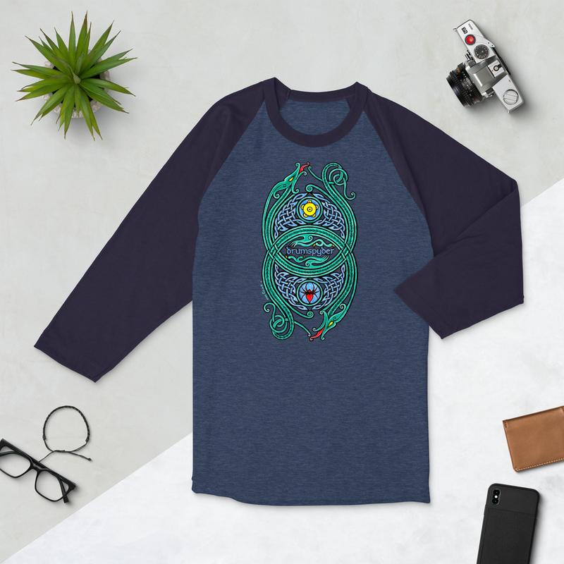 Dragons - 3/4 sleeve raglan shirt