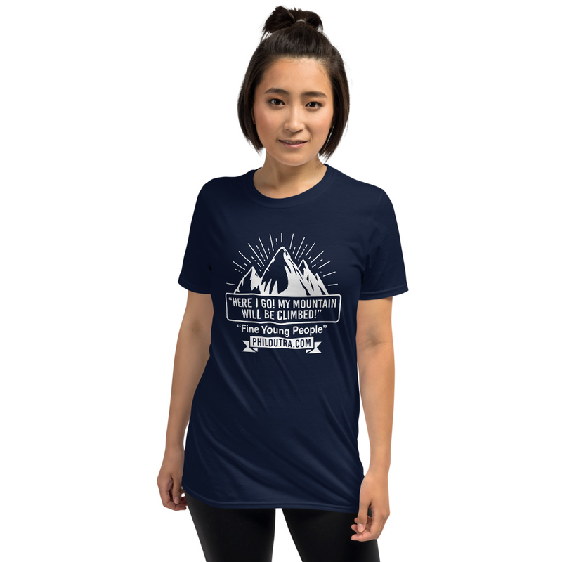 Unisex Mountain Logo Dark T-Shirt