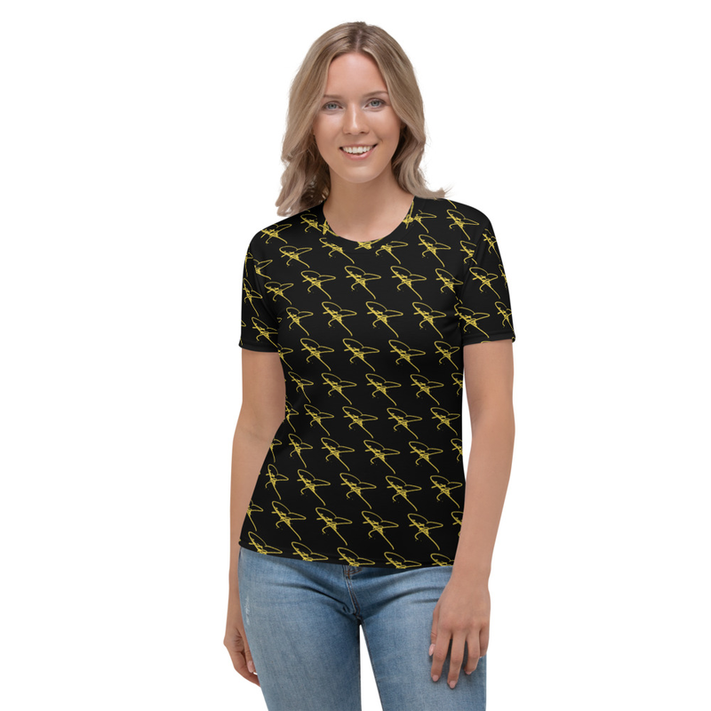 Women's T-shirt - Crystal Mia Signature - Black/Gold