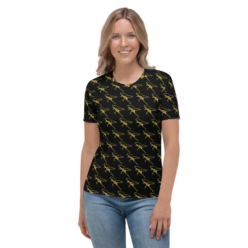 Women's T-shirt - Crystal Mia Signature - Black/Gold