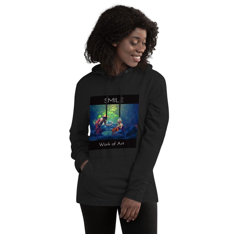 Unisex Lightweight Hoodie / Work of Art / SMILE