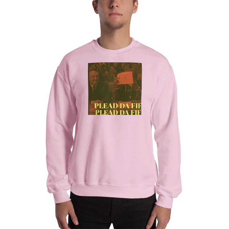 Plead Da Fif Unisex Sweatshirt (Red)