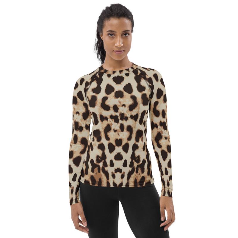 AHoney Leopard Women's Rash Guard