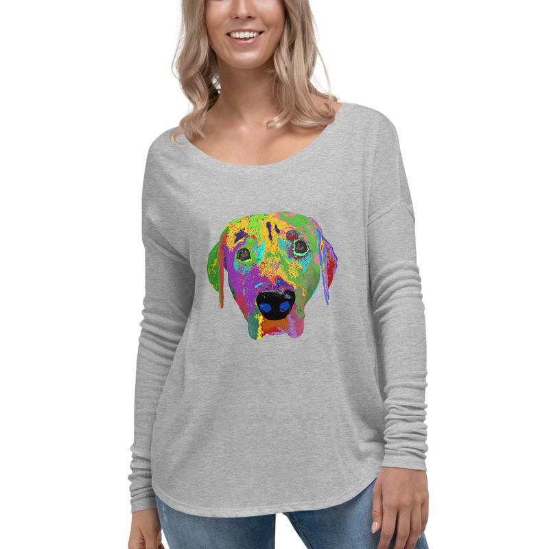 Dog Head Ladies' Long Sleeve Tee