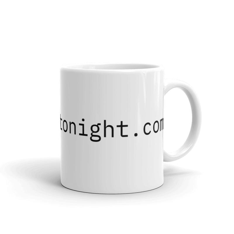 Dallas Live Tonight White glossy mug