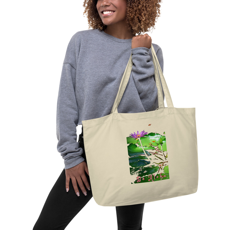Be Aloha Lotus Large organic tote bag