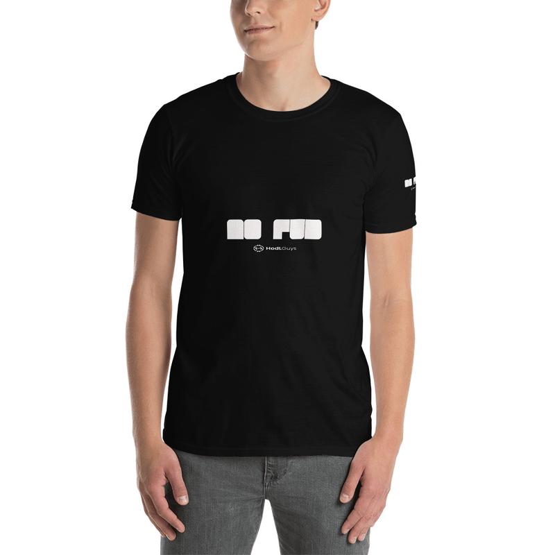 No FUD Short-Sleeve Unisex T-Shirt white font