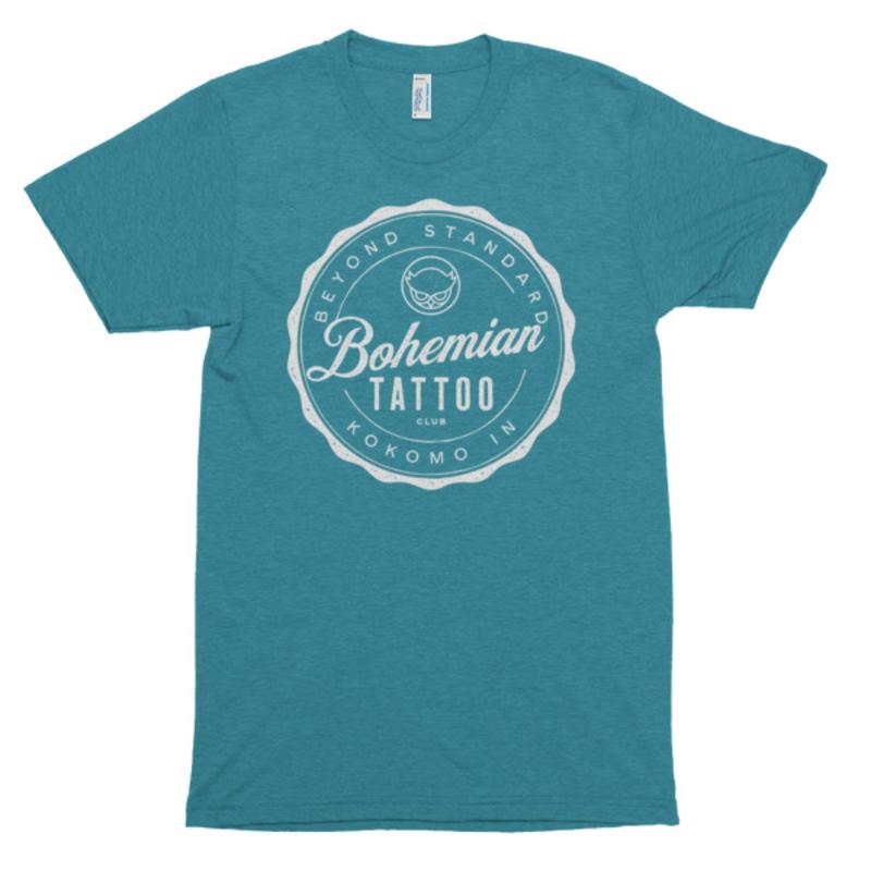 Bohemian Bottle Cap Shirt - Tri-Evergreen