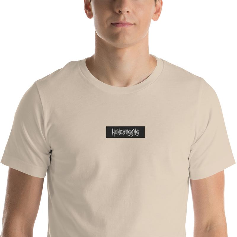 HONESTGANG Box Logo Embroidered Unisex T-Shirt