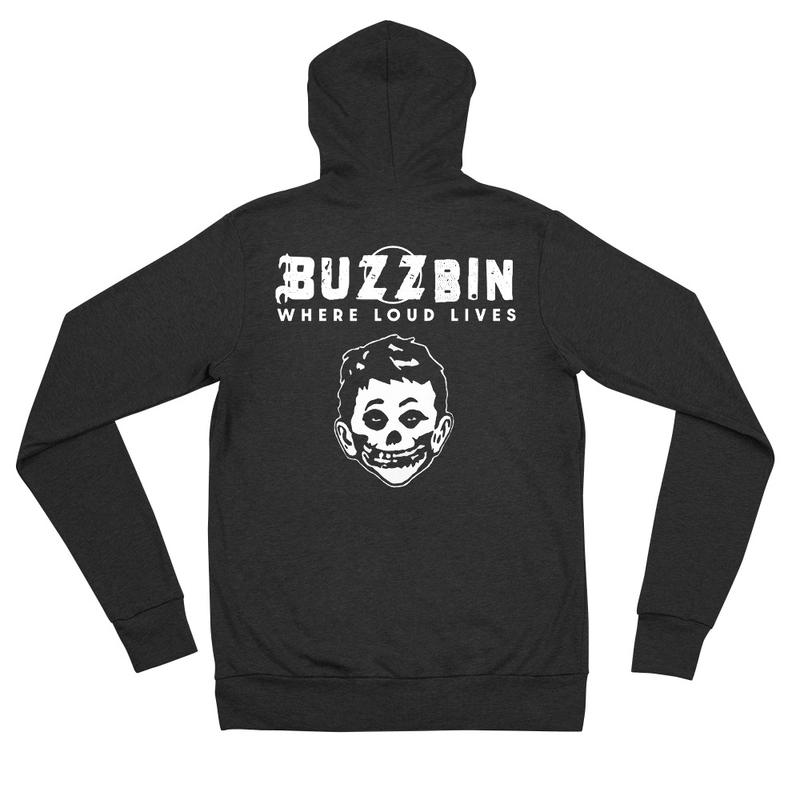 Buzzbin Mad Misfit Unisex zip hoodie