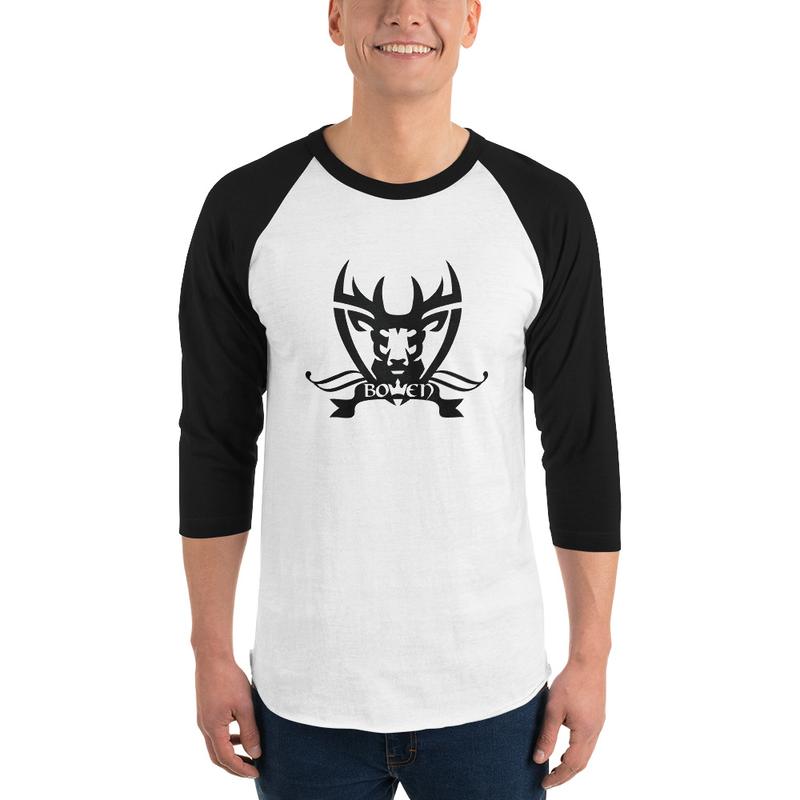 BOWEN Stag Logo 3/4 sleeve Raglan Shirt