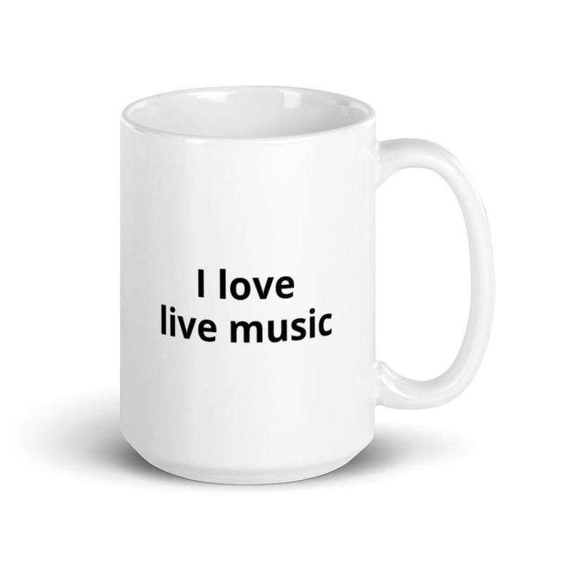 Steve Bennett Music Mug - I love live Music