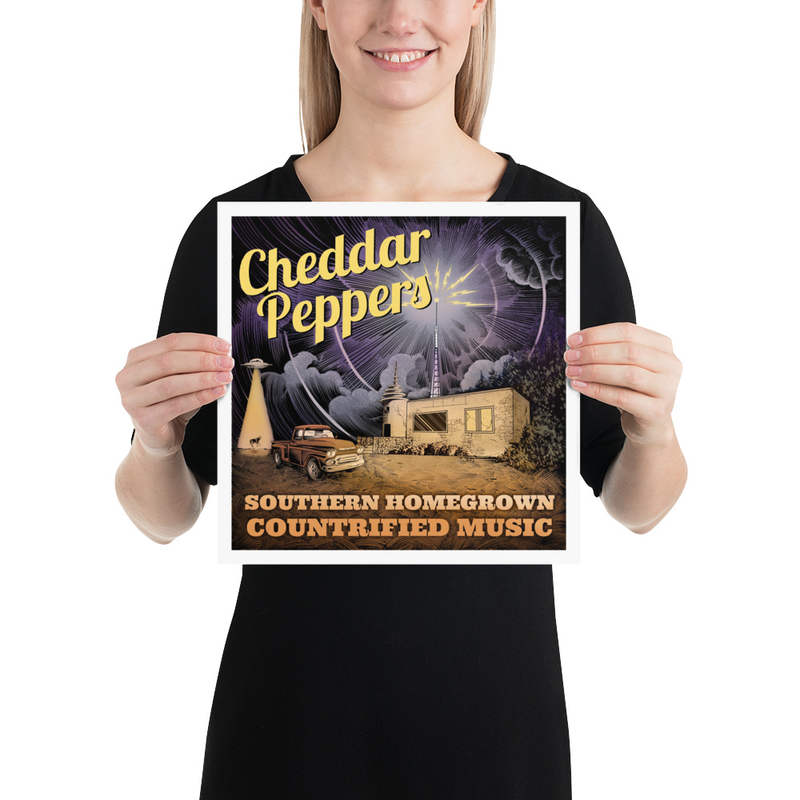 Cheddar Peppers Poster