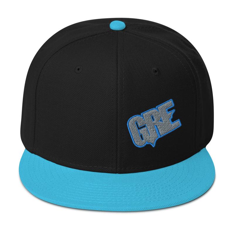 """GRE"" Logo Snapback Hat (Ocean Blue/Black)"