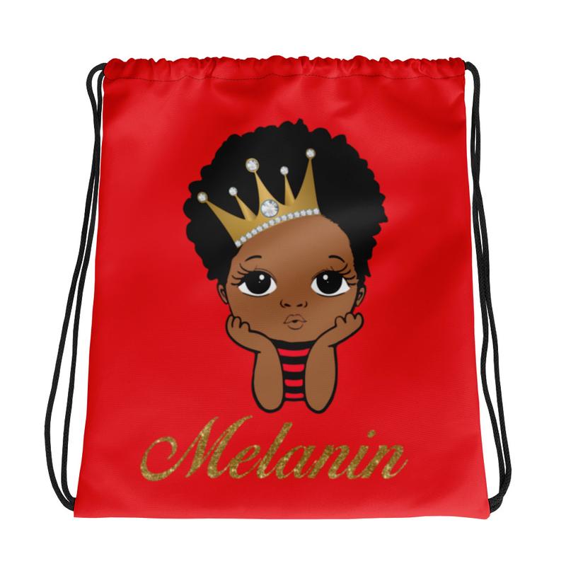Prince Melanin Drawstring bag
