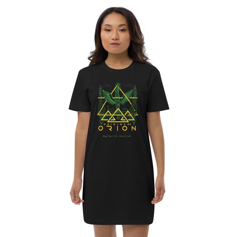 Wage Peace Green Organic Sacrifice  cotton t-shirt dress