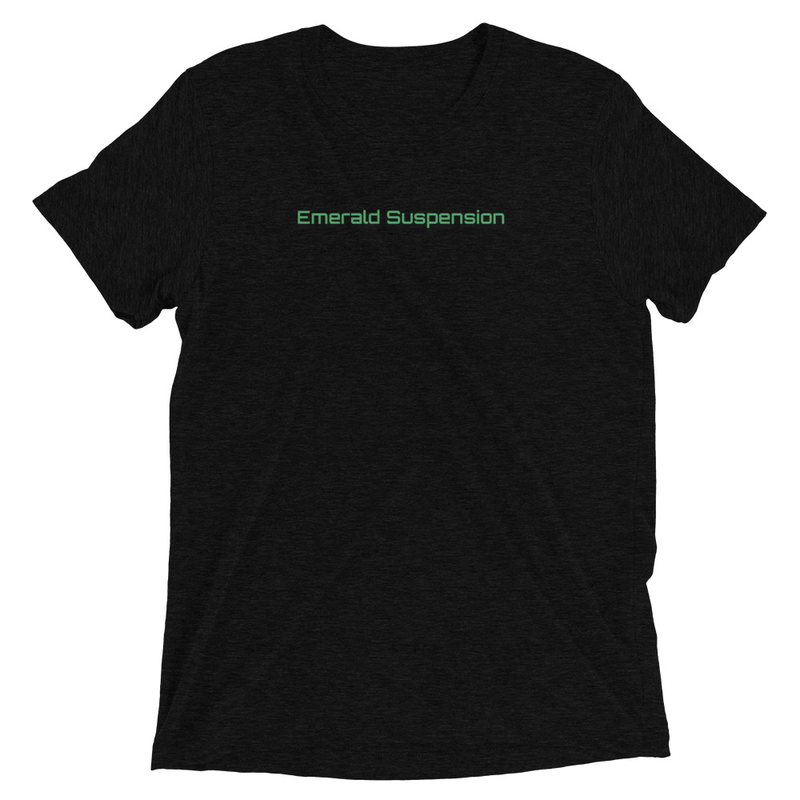 Tri-blend T-shirt with Emerald Suspension on Front