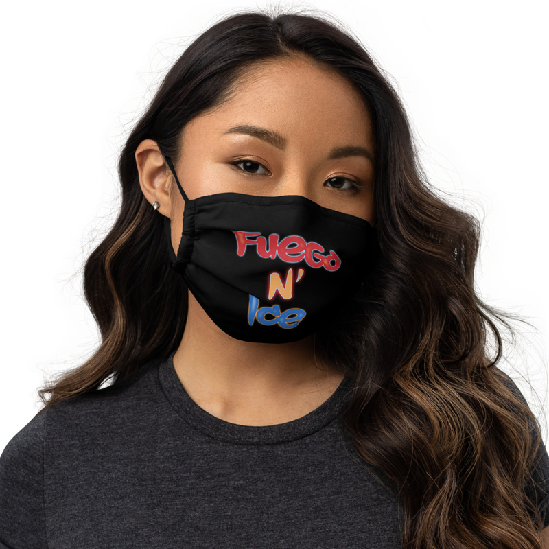 """""""Fuego N Ice"""" - Premium Washable Face Mask + Pocket For Surgical Mask"""