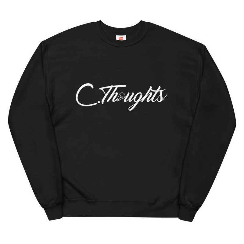 C.Thoughts Logo Black Sweatshirt
