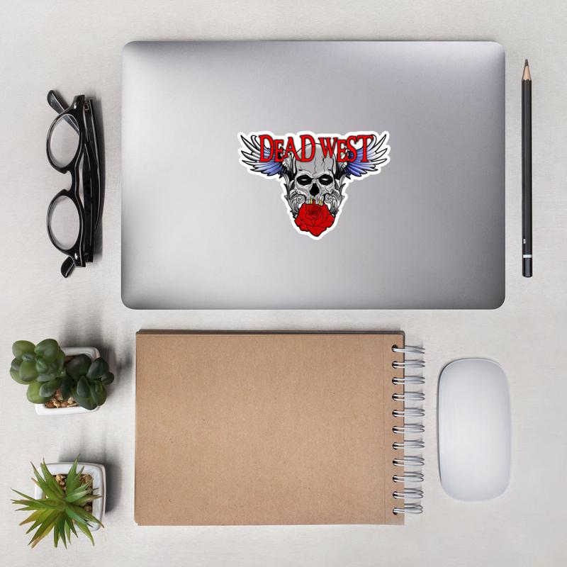DEAD WEST New Logo Bubble-free stickers
