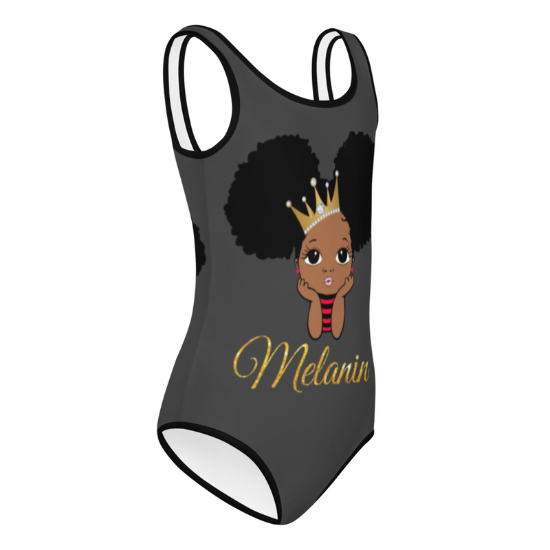 Princess Melanin All-Over Print Kids Swimsuit