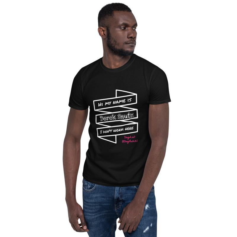 Derek Snutz Black Unisex T-Shirt