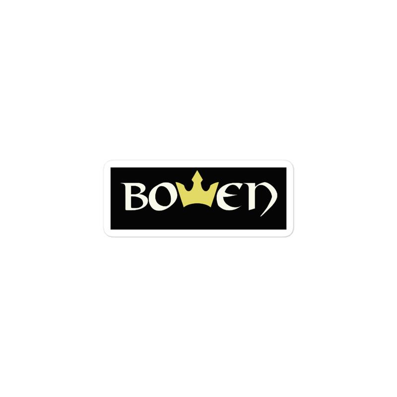 BOWEN Crown Bubble-free stickers