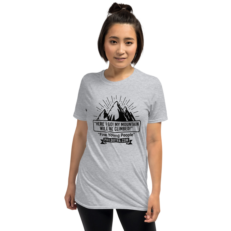 Short-Sleeve Unisex Mountain Logo Light T-Shirt