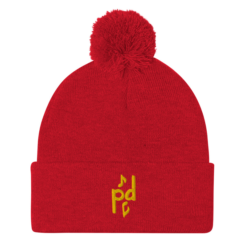Peter Day Music Logo Pom-Pom Beanie