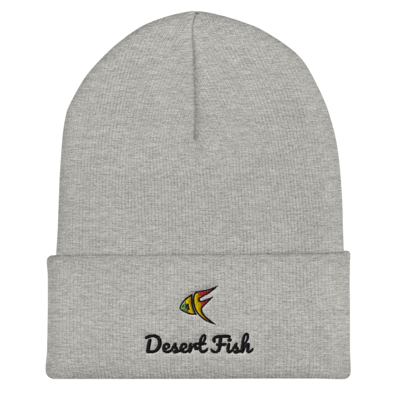 DF Logo Cuffed and Stitched Beanie White, Grey, Red