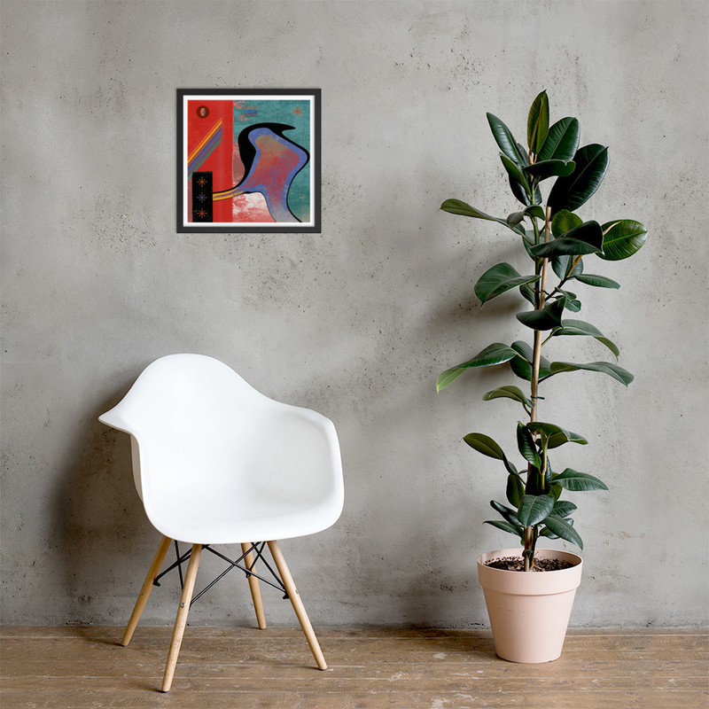 Birdy - High Quality Framed Art Print