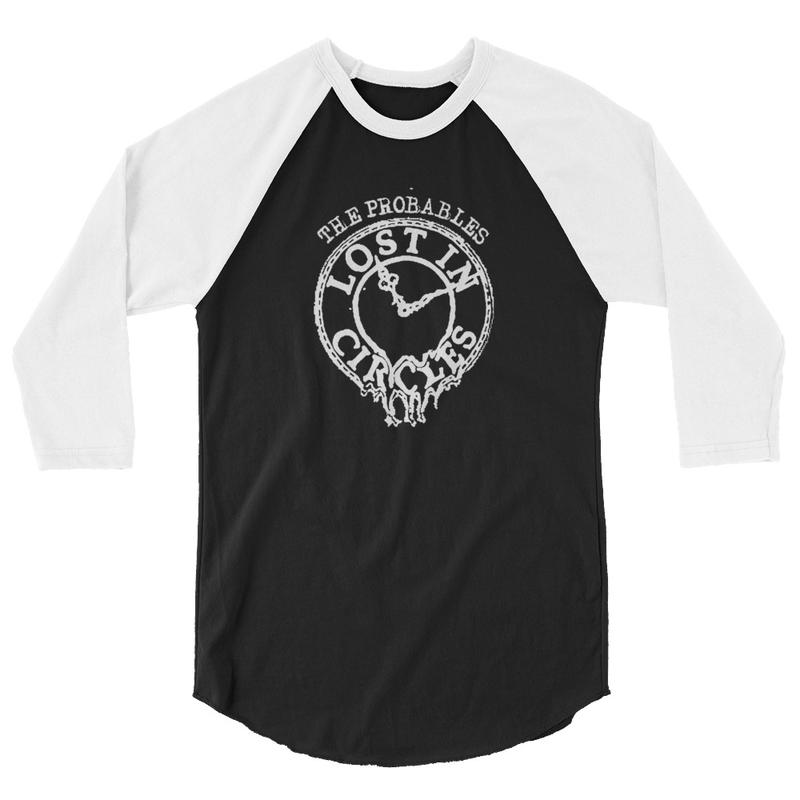 Lost in Circles 3/4 Sleeve Raglan Shirt