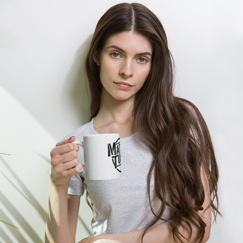 MT White glossy mug