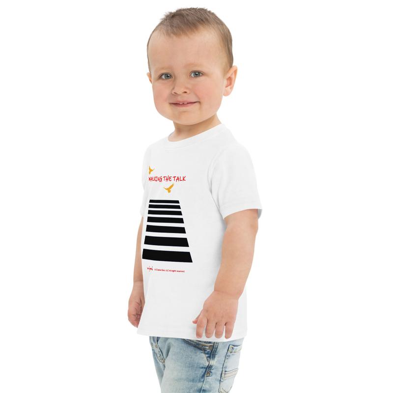 Walking The Talk Toddler jersey t-shirt