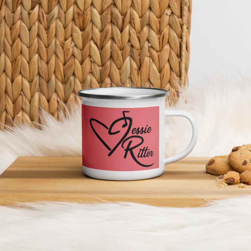 Pink Jessie Ritter Logo Mug