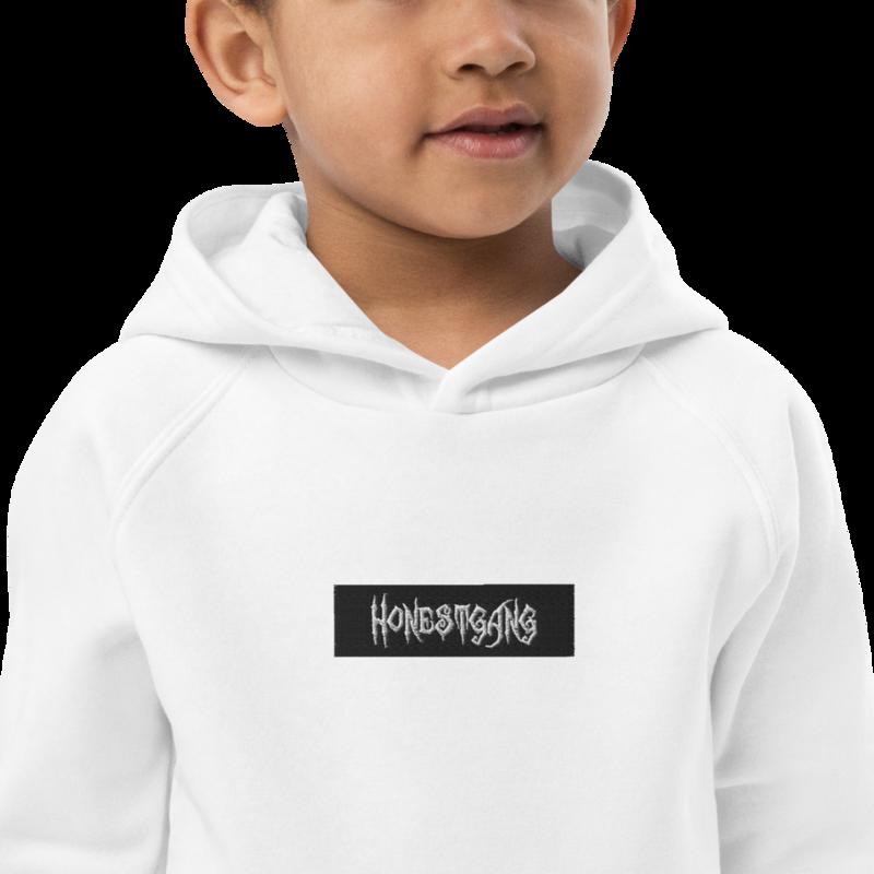 HONESTGANG Embroidered Box Logo Kids Eco-Friendly Hoodie