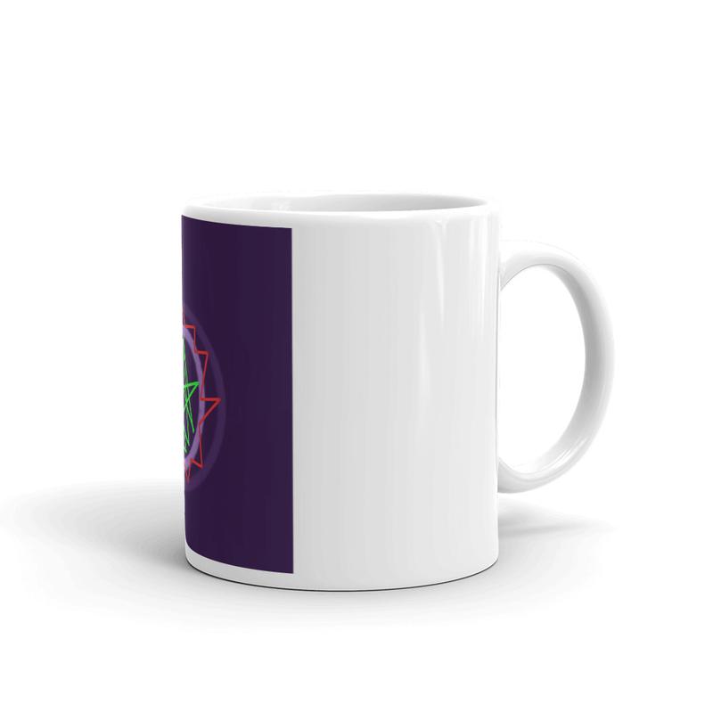 White glossy mug - Cabin Fever