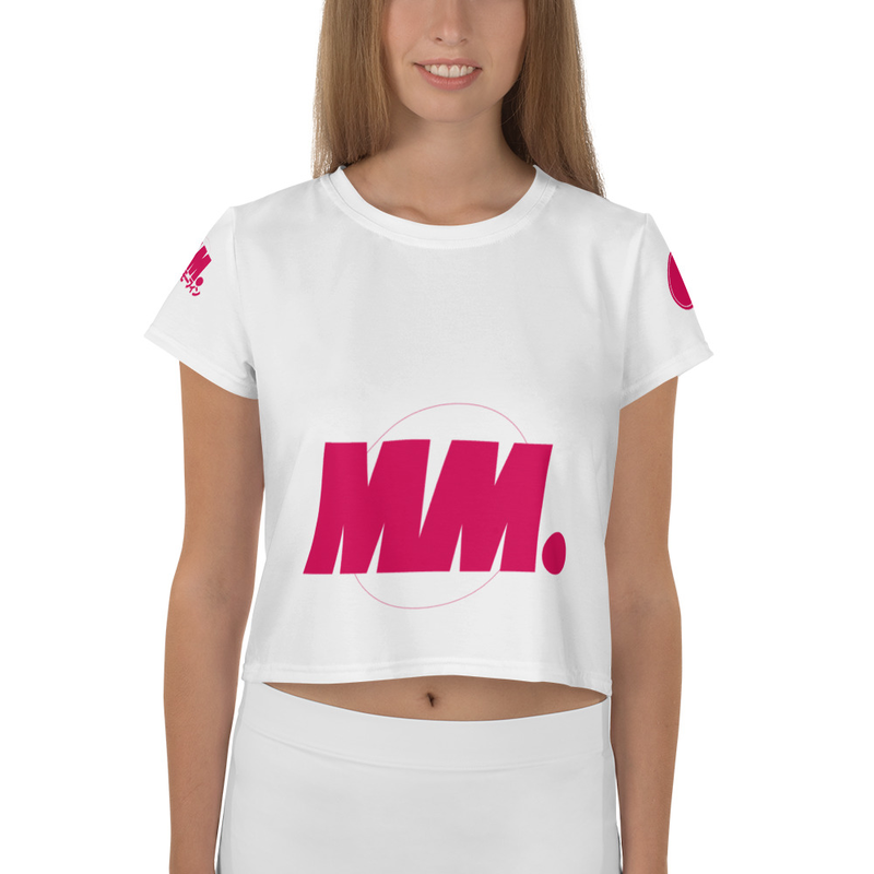 Mighty Morfin Women's All-Over Print Crop Tee