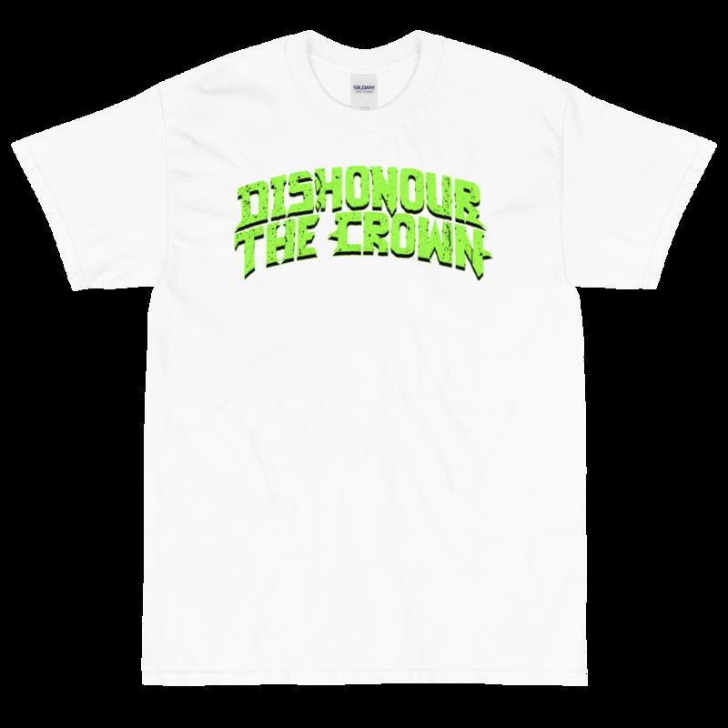 Dishonour The Crown logo T - White/Slime