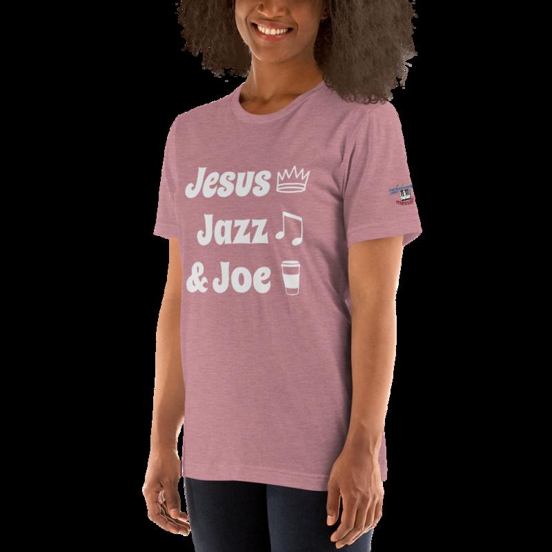 JJ&J Grey Lettering Short-Sleeve Unisex T-Shirt