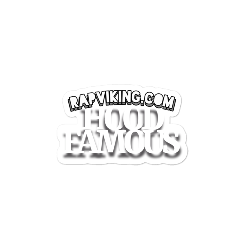 HOOD FAMOUS Bubble-free stickers