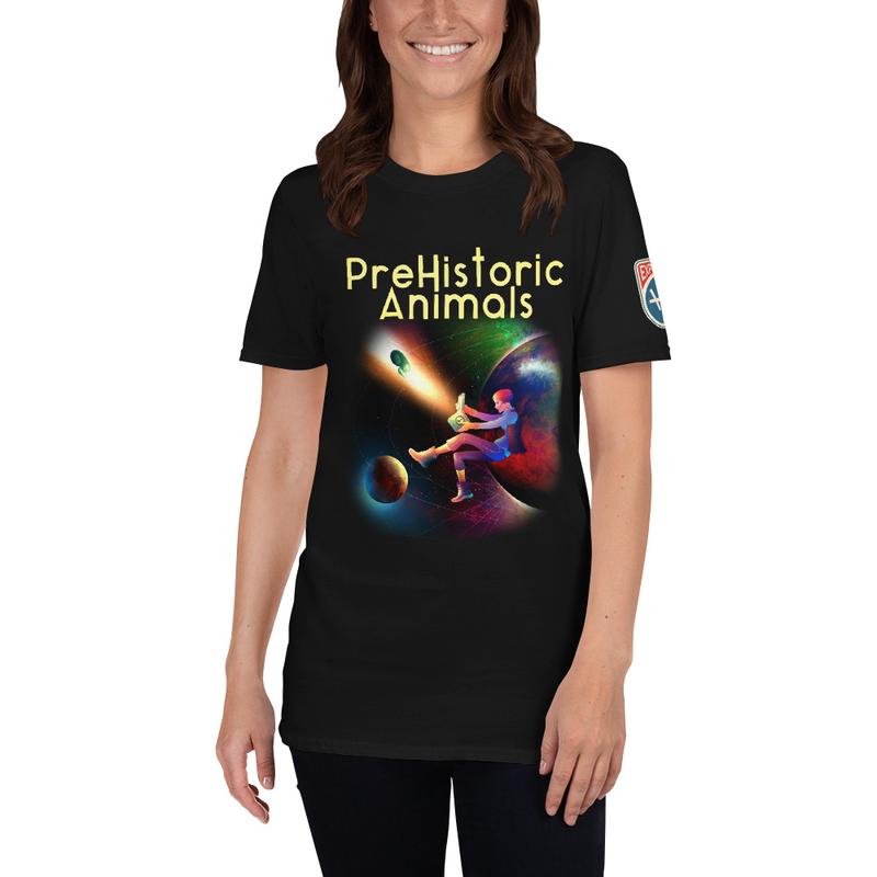 "PreHistoric Animals Unisex t-shirt ""The Magical Mystery Machine"""