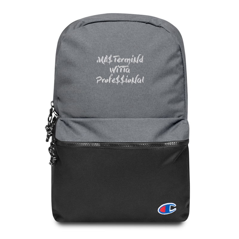 Embroidered Champion Backpack - MANi$H