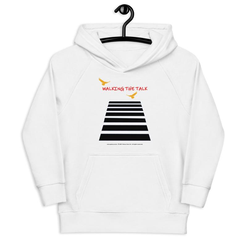 Walking The Talk Kids eco hoodie